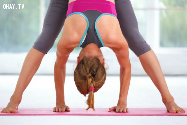 5. Tập yoga ,chăm sóc da