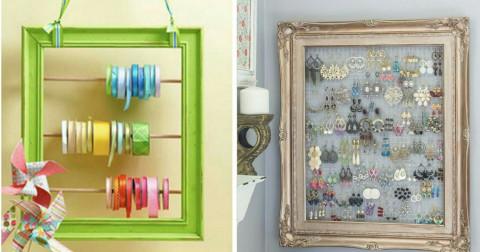 10+ ý tưởng tận dụng những chiếc khung cũ làm vật trang trí tuyệt vời cho ngôi nhà của bạn