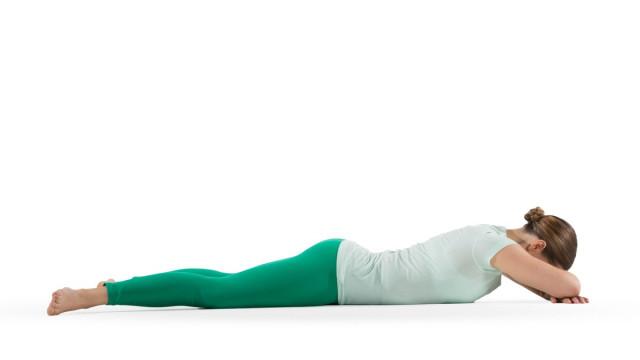2. Tư thế cá sấu (Makarasana),tư thế yoga,động tác yoga,sống khỏe