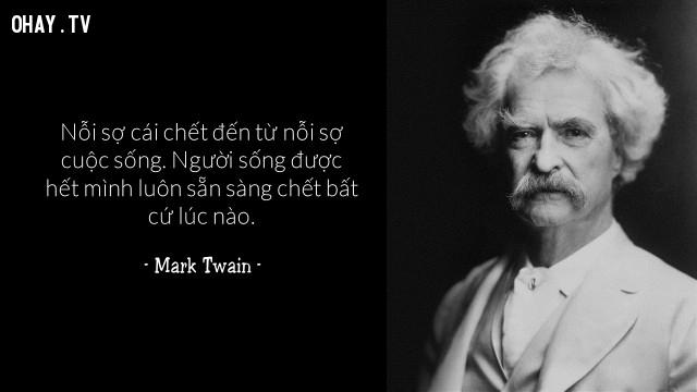 Mark Twain,câu nói hay,cái chết,qua đời