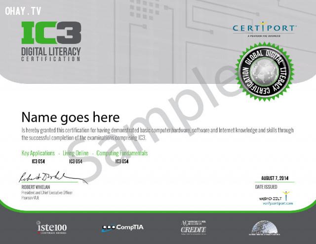 Vậy chứng chỉ IC3 là gì?,chứng chỉ ic3,chứng chỉ tin học