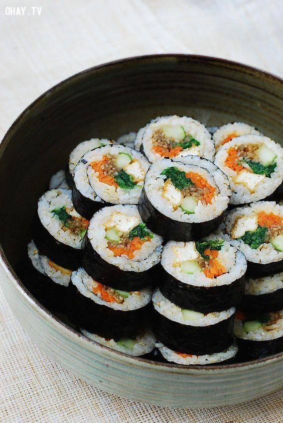 1. Kimbap (김밥),du lịch hàn quốc,món ăn hàn quốc