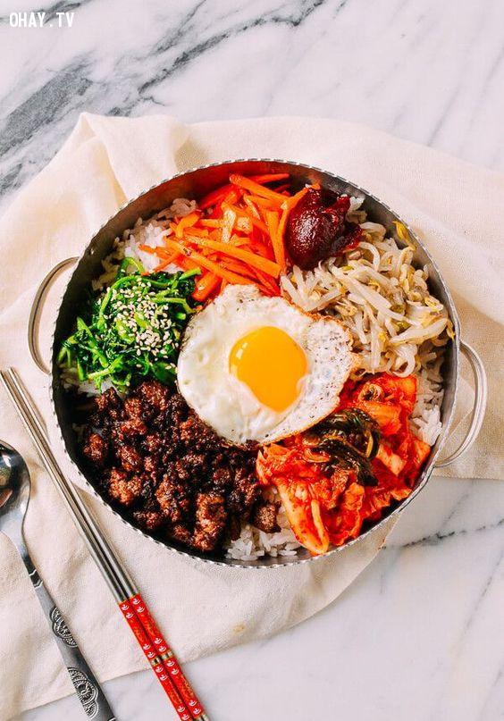 4. Bibimbap (비빔밥),du lịch hàn quốc,món ăn hàn quốc