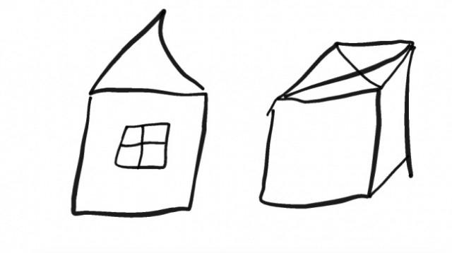 Những chiếc hộp hoặc những ngôi nhà nhỏ,trắc nghiệm tính cách,hình vẽ,tâm lý học
