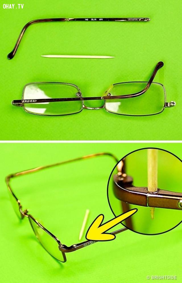 5. Mẹo sửa kính tạm thời,người cận thị,người đeo kính