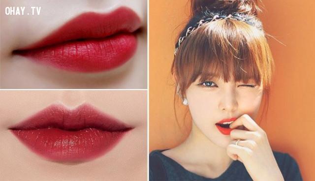 4. Son màu đỏ gạch,cách chọn màu son,son môi nào tốt,son môi đẹp