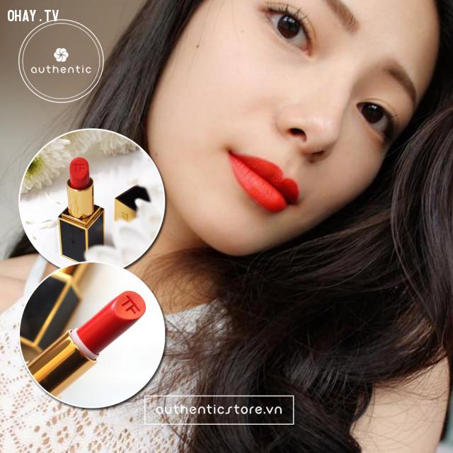 3. Son màu đỏ cam,cách chọn màu son,son môi nào tốt,son môi đẹp