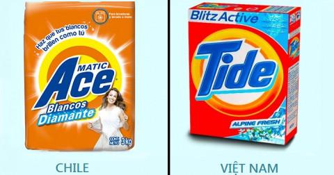 11 sản phẩm nổi tiếng trông hoàn toàn khác nhau trên khắp thế giới
