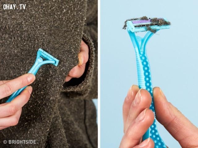 1. Giải quyết lớp lông xù trên áo len cũ,mẹo thời trang,khắc phục sự cố