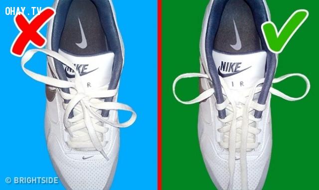 Buộc dây giày,sai lầm thường gặp