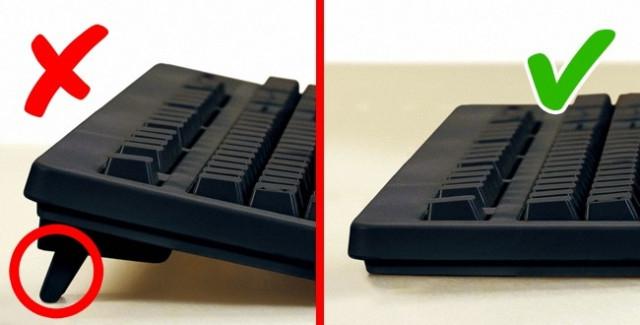 Chân bàn phím máy tính.,sai lầm thường gặp