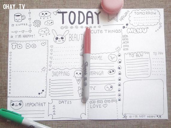 Lên kế hoạch những công việc cần làm hôm sau ,sống đơn giản,cách sống tốt