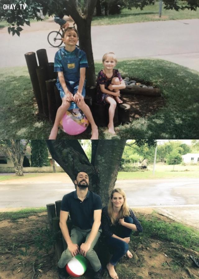"""""""22 năm trôi qua, mọi thứ dường như vẫn còn đó, chỉ có cây là lớn lên rất nhiều."""",ngày ấy bây giờ"""