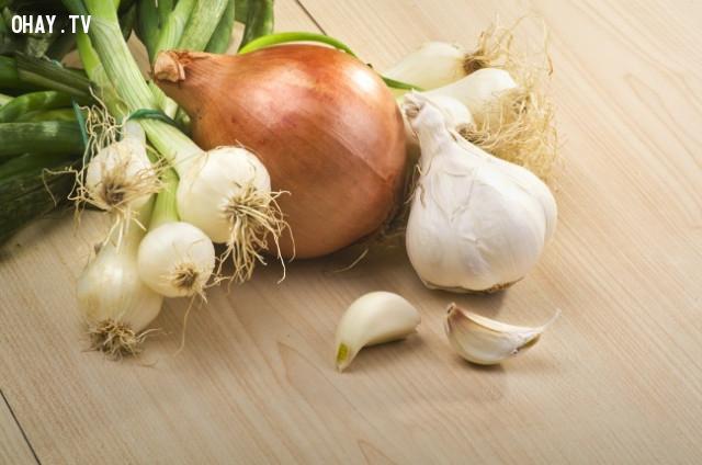2. Hành tây và tỏi,thực phẩm tốt cho sức khỏe,thực phẩm tốt cho gan,sống khỏe