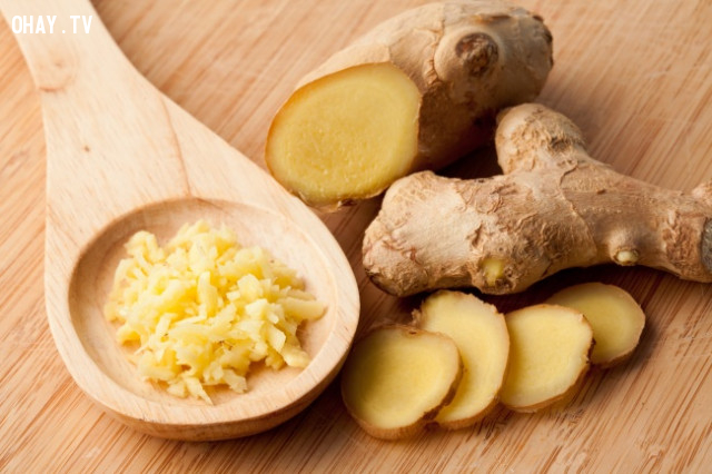 8. Gừng,thực phẩm tốt cho sức khỏe,thực phẩm tốt cho gan,sống khỏe