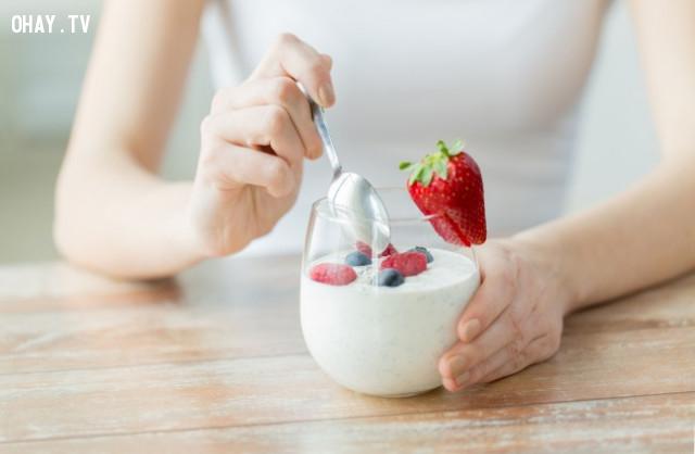 6. Sữa chua,thực phẩm tốt cho sức khỏe,thực phẩm tốt cho gan,sống khỏe