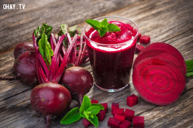 1. Củ dền,thực phẩm tốt cho sức khỏe,thực phẩm tốt cho gan,sống khỏe