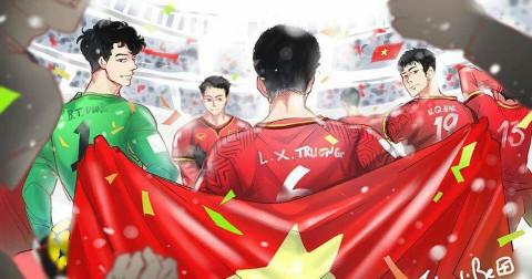 Loạt tranh siêu đáng yêu về đội tuyển U23 Việt Nam - Trận bán kết