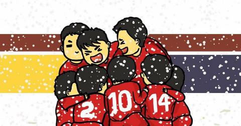 Loạt tranh vẽ siêu đáng yêu về đội tuyển U23 Việt Nam - Trận chung kết