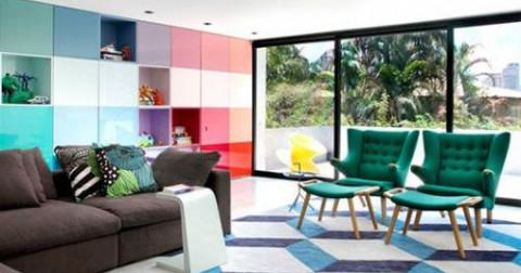Không gian sống hài hòa với típ bố trí màu sắc 'xuyệt tông' với cảm xúc