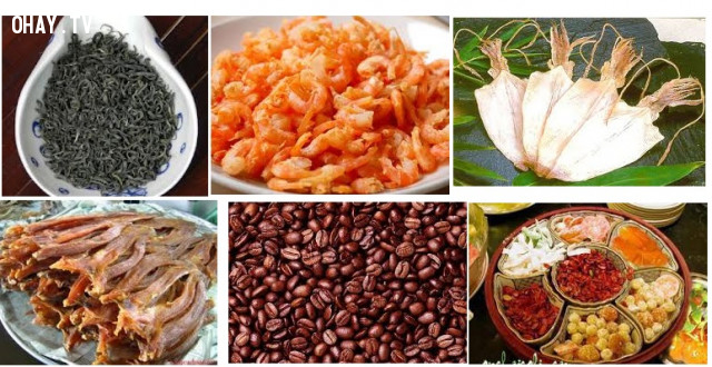 4. Đối với thực phẩm khô,bảo quản thực phẩm,mẹo nhà bếp