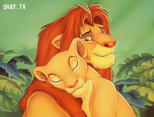 Simba và cô bạn gái Nala...,nhân vật hoạt hình,hoạt hình disney
