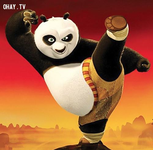 Gấu Po mập ú trong Kungfu Panda...,nhân vật hoạt hình,hoạt hình disney