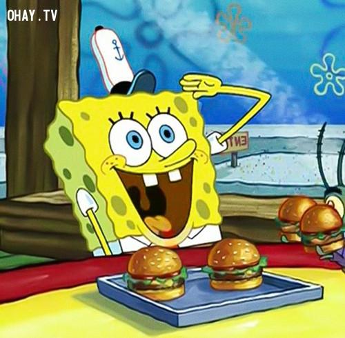 Anh chàng Bọt biển SpongeBob đáng yêu...,nhân vật hoạt hình,hoạt hình disney