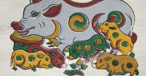 9 bức tranh Đông Hồ thường treo ngày Tết. Bạn đã biết ý nghĩa của bao nhiêu bức trong số chúng?