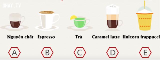 1. Hãy chọn ly cà phê mà bạn thích nhất,