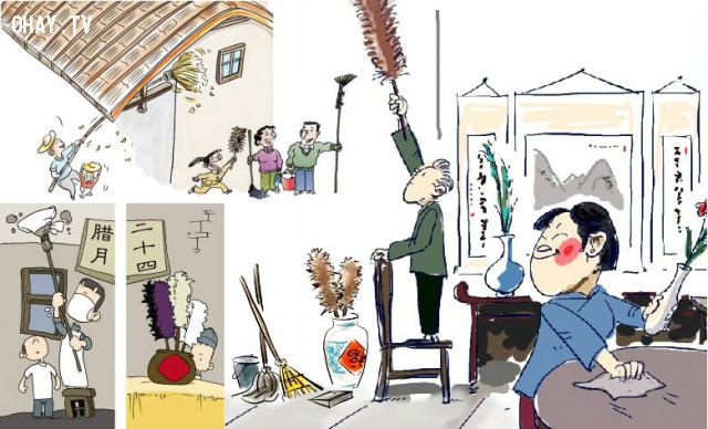 Dọn dẹp nhà cửa trước ngày mồng 1 Tết,tết nguyên đán