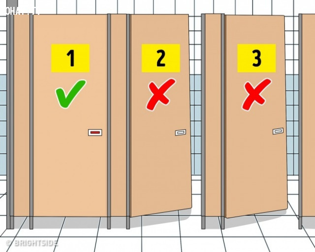 Chọn phòng sạch sẽ  nhất,nhà vệ sinh công cộng,sống khỏe