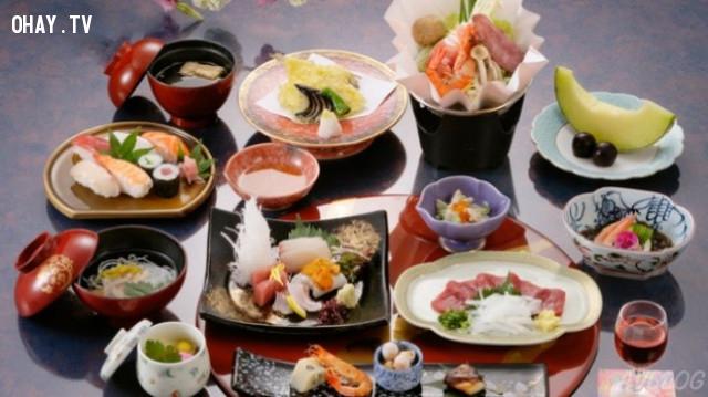 1. Chế độ ăn uống đa dạng,người Nhật,cách giữ dáng,ẩm thực Nhật Bản,chế độ ăn uống