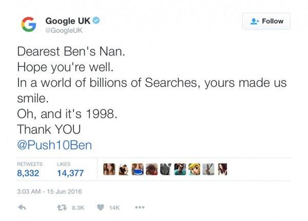 ,Google Search,lòng biết ơn,lịch sự