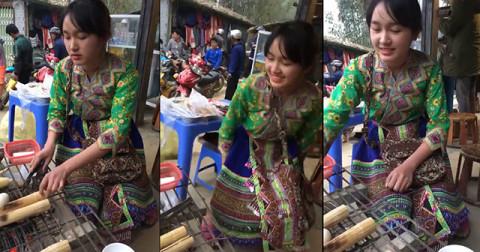 Vàng Thị Dung Nhi - Thiếu nữ cơm lam Sapa khiến cánh con trai nhốn nháo
