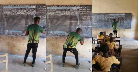 Đăng ảnh dạy Word bằng bảng, thầy giáo châu Phi nhận quà đặc biệt từ Microsoft