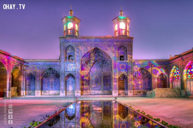 Nasir ol Molk Mosque, Iran,màu hồng,địa điểm sống ảo