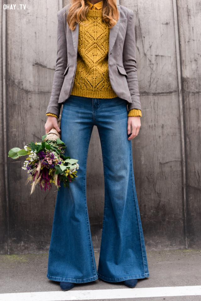 Mặc jeans ống loe,cách ăn mặc,mẹo thời trang