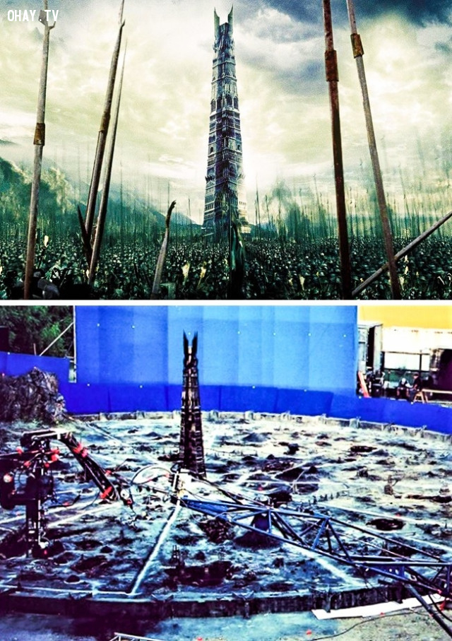 5. The Lord of the Rings: The Two Towers,kỹ xảo điện ảnh,phim trường tí hon