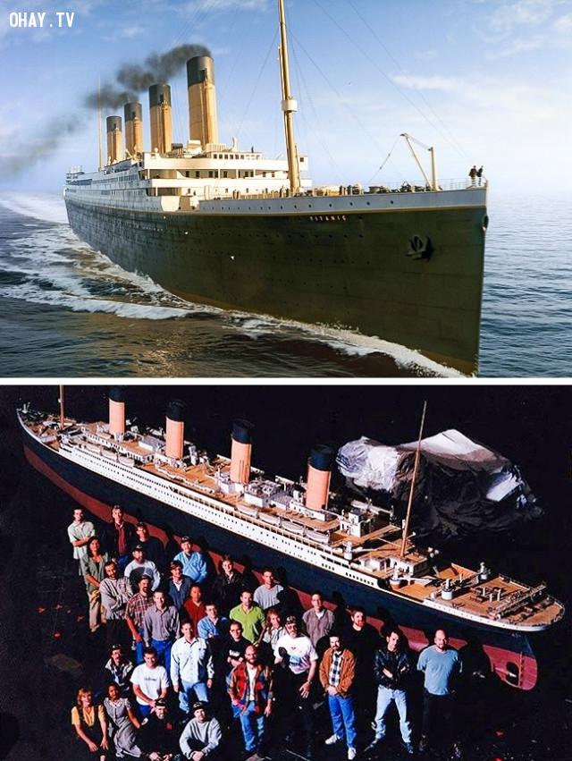 1. Titanic,kỹ xảo điện ảnh,phim trường tí hon