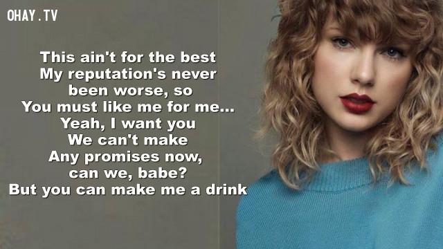 Cô đã truyền đi thông điệp ý nghĩa dành cho tất cả những ai còn chới với tìm bản ngã của mình: You must like me for me!,Taylor Swift