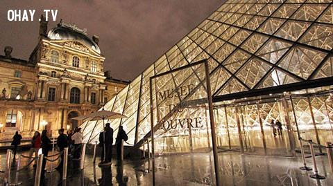 Louvre - Bảo tàng của sự cổ kính và lung linh về đêm,Paris,nước Pháp