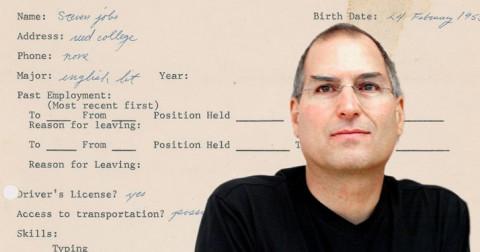 Tiết lộ đơn xin việc của Steve Jobs 3 năm trước khi sáng lập Apple