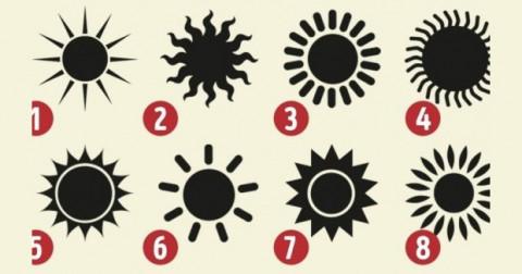 Trắc nghiệm tính cách qua lựa chọn hình ảnh mặt trời