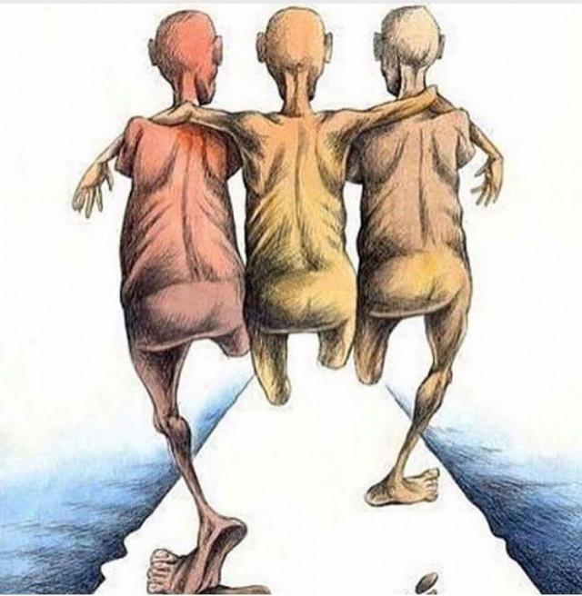 7. 1 chân làm chẳng nên non, 2 chân chụm lại 3 thằng biết đi...,Ảnh biếm họa,suy ngẫm,thời đại ngày nay
