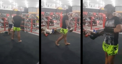 Thách đấu nhầm cao thủ kickboxing, nam thanh niên bất tỉnh 15 phút
