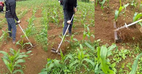 Chiếc máy cắt cỏ vun đất tuyệt vời của chàng trai Lạng Sơn