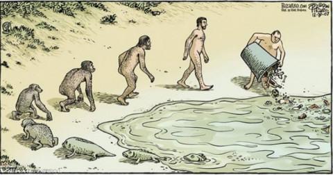 Bộ ảnh hài hước về lịch sử tiến hóa trong đời sống con người