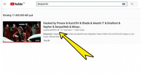 Video 5 tỷ views Despacito đột ngột biến mất trên YouTube, nghi ngờ bị hacker tấn công!