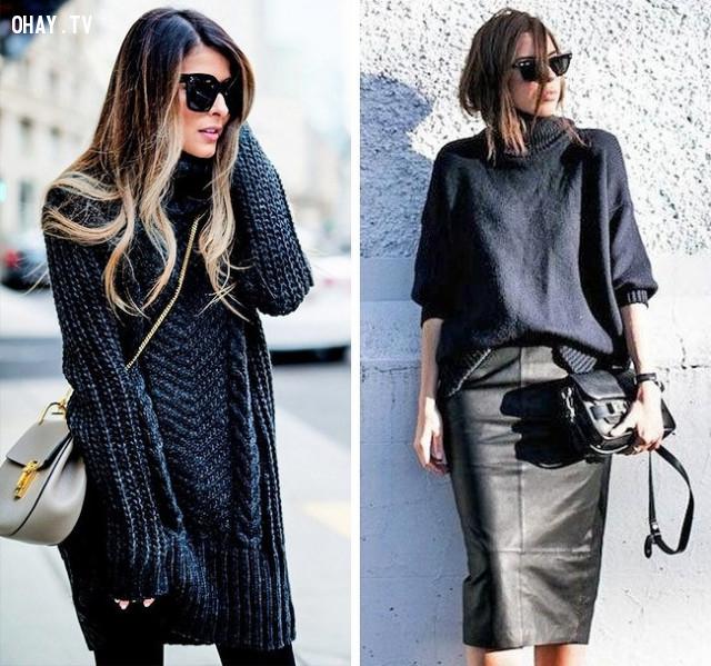 Chọn áo len oversize,mẹo thời trang,cách ăn mặc,nổi bật trước đám đông